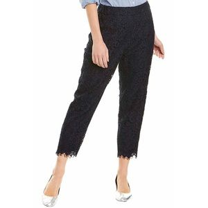 J Crew Pull On Floral Lace Crop Pants 6